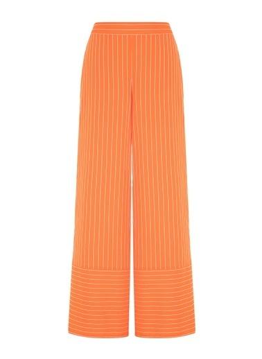 Nocturne Dokulu Çizgi Desen Pantolon Oranj